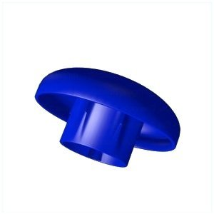 8 Stück Trampolin Blaue Kappe für Stangen Ø 25mm Sicherheitsnetz Pfostenteil, Ersatzteil