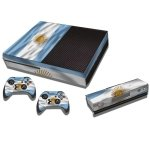 RISHIL WORLD Argentine Flag Pattern Decal Stickers for Xbox One Game Console