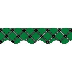 Teacher Created Resources Green Plaid Scalloped Border Trim (5661) by Teacher Created Resources