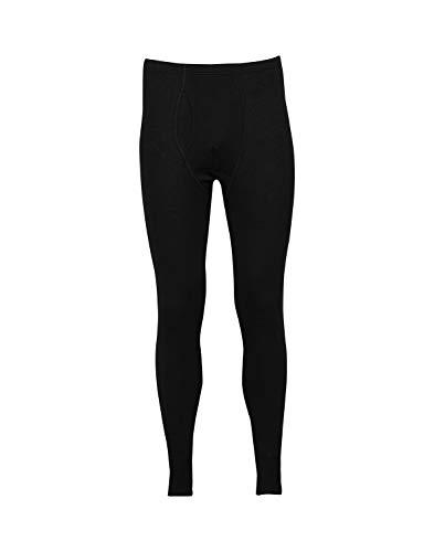 DILLING Lange Unterhose für Herren - aus 100% Bio-Merinowolle Schwarz L