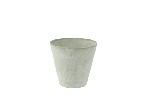 Artstone Pflanzgefäß, Pflanzkübel Claire, frostbeständig und leichtgewichtig, eukalyptus, 22x22x20 cm, 136205