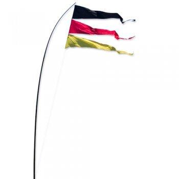 Fahnen - Bogen Banner Team Germany - UV-beständig und wetterfest - Abmessung: 160x75cm - inkl. Teleskopstab und Bodenanker (Team Germany)