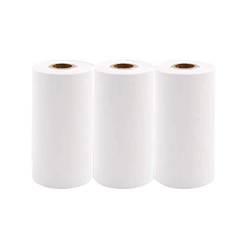 XZANTE 3 Rollos De Papel Adhesivo Imprimible Blanco