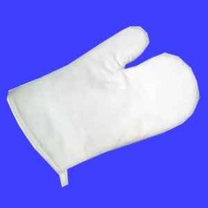 Rayher 3833800 Ofenhandschuh, weiß, 28x16 cm, SB-Btl 1 Stück -
