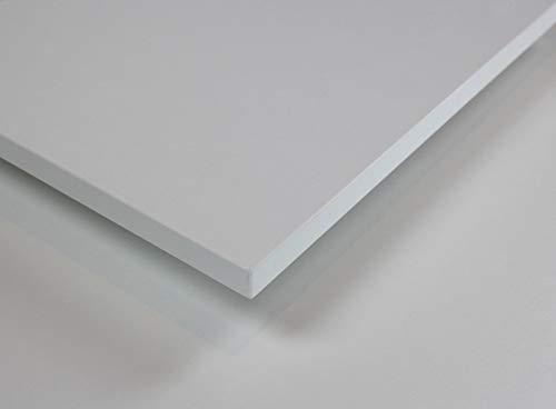 MySpiegel.de Tischplatte Holz Zuschnitt nach Maß Beschichtete Holzdekorplatte (120 x 70 cm, Weiß) -
