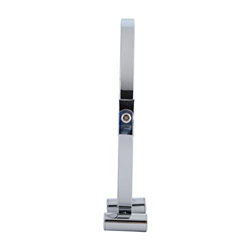 axentia 3-fach Vergrößerungs-Standspiegel in Silber, rostfreier Badezimmerspiegel verchromt, runder Kosmetikspiegel im Durchschnitt ca. 17 cm - 4