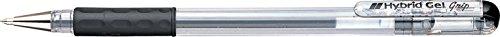 pentel-hybrid-gel-grip-rollerball-pen-06mm-tip-03mm-line-black-ref-k116-ae-pack-of-12