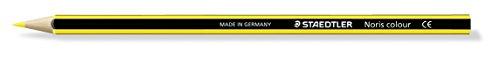 Staedtler 185-10 Noris Colour Farbstift, Stifte aus Wopex, Sechskantform, 12 Stück im Kartonetui, lichtgelb