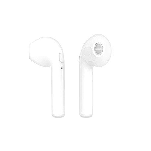 Wekold Auriculares inalámbricos Bluetooth Auriculares Deportivos inalámbricos Estéreo en la Oreja con micrófono Compatible con iPhone Samsung LG Huawei y Otros Dispositivos (1 par)