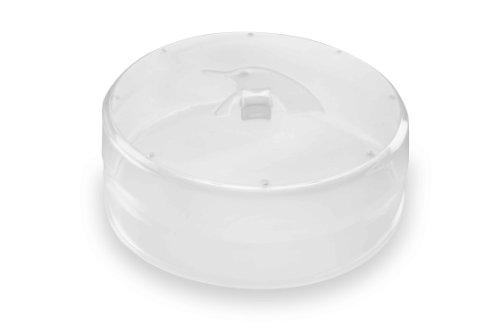 PINFI 81136 - Tapa para microondas, plegable, de silicona, 23 cm, color transparente