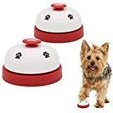 AK KYC 2x Campane da addestramento per Cane Addestramento for Vasino Formazione e comunicazione giocattoli interattivi tempo di alimentazione Dog Call Bells Training Ringer (Rosso)