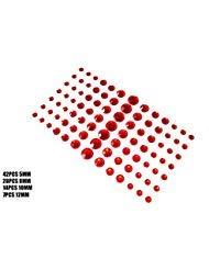 ende Selbstklebende Craft Jewels Flatback Augenbraue Lidschatten Körper Augen Nägel Glitter Aufkleber (Red) ()