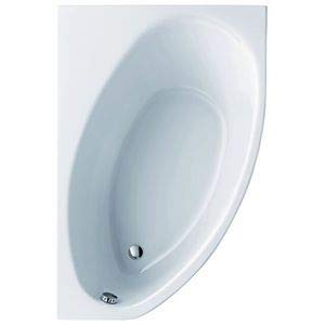 Keramag Asymmetrische Eckbadewanne Renova Nr. 1, 65735 150x100cm weiß(alpin) 657350000