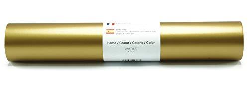 Vinyl Folie selbstklebend 3m versch. Farben Folie Gold-Matt