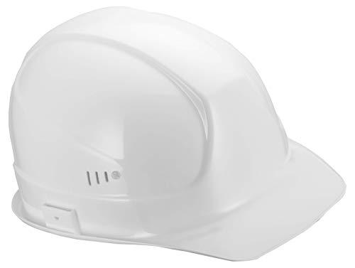 Uvex Superboss Elmetto di Protezione - Casco da Cantiere UNI EN 397 - Elmetti di Protezione nell´industria, Colore: Bianco