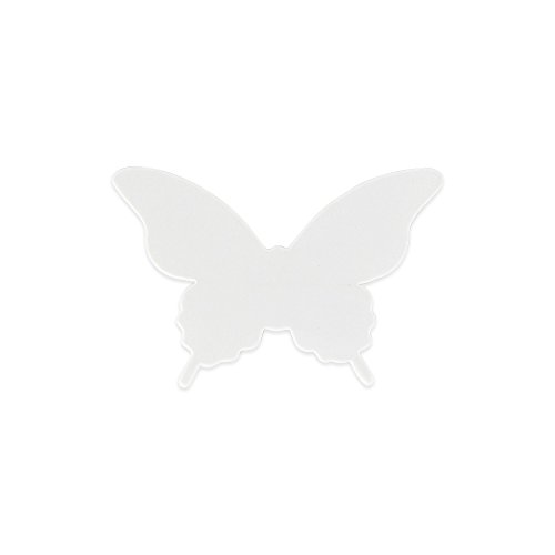 Elfenstall 3D Papier Schmetterling Aufkleber Wandsticker Wandtattoo Wanddeko für Wohnung, Raumdekoration, Hochzeit oder Party als Dekoration in der Farbe Weiss (Wohnheim-größe Kühlschrank)
