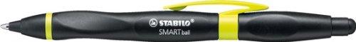 STABILO SMARTball rechts schwarz/kiwi Schreibfarbe blau - ergonomischer Kugelschreiber mit Touchscreen-Funktion (Stylus)