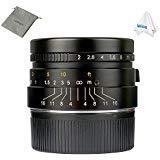 7gestaltet 35mm f2.0Manueller Fokus Prime Fixiertes Objektiv für Leica M Mount M3M6M7M8M9M240M10-Schwarz -