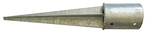 Piquet d'ancrage au sol en acier galvanisé pour poutre ronde Ø 101 mm