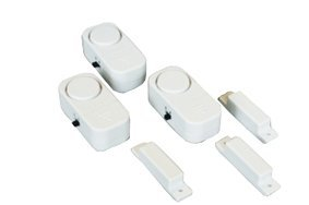 3 Mini Internal Alarms With Magnetic Contact For The Protection Of Doors, Windows, Medicine Cabinets, Store Rooms ect. With ON/OFF Switch, Mount With Adhesive Tape Or Screws, Batteries Included..