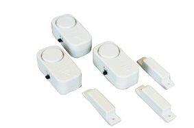 Tür Medizin (3 Mini interne Weckalarme mit Magnetkontakt für den Schutz von Türen, Fenster, Schränke, Medizin Vorratsräume ect. mit EIN-/Ausschalter, Befestigung durch Klebestreifen oder Schrauben, Batterien im Lieferumfang enthalten.)
