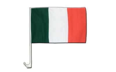 Italien Flagge, italienische Autoflagge - 30 x 40 cm, MaxFlags®
