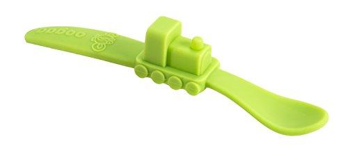 Preisvergleich Produktbild PHP Oogaa Silicone Baby Spoon Train *GREEN* (Versand aus UK)
