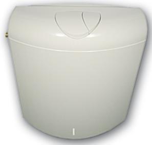 ABU WC Spülkasten Verona 6 Liter Farbe: manhattan, 2 Mengen