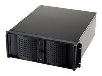 Fantec TCG-4860KX07-1 Server Gehäuse (2x extern 8,9 cm (3,5 Zoll), 6x extern 5,25 Zoll, 2x intern 8,9 cm (3,5 Zoll), 2x USB 2.0) schwarz