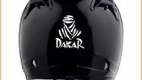 DELHI TRADERSS Vinyl DAKAR Logo Decal Bike Helmet sticker (black)
