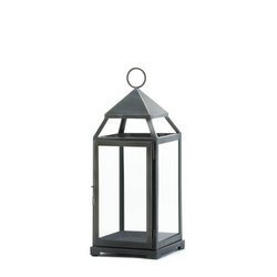 1 Ea Pack (Home Locomotion - Large Rustic Silver Contemporary Lantern (pack of 1 EA) by Home Locomotion)