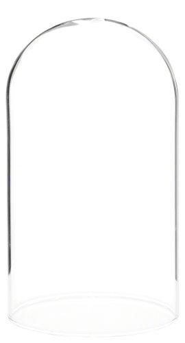 plymor Marke 7,6x 12,7cm Display Glas Dome Cloche No Base -