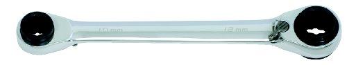 KS TOOLS 503 4656 - 4 EN 1  LLAVE POLIGONAL DOBLE CON CARRACA REVERSIBLE QUADRO GEAR (ENTRECARAS 8 X 10 + 12 X 13 MM)