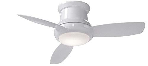 minka-aire f518-parent, concepto II Montaje Empotrado Ventilador de techo con luz y...