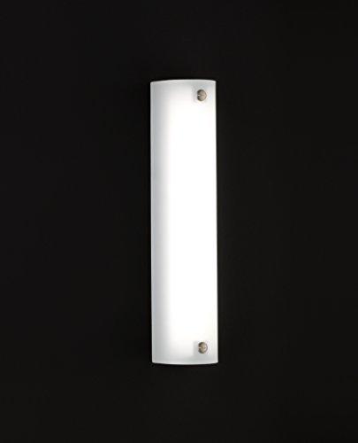 Wandleuchte LED Nickel matt Weiß Glas 1-flammig 20852 Deckenleuchte Spot Design Lampe Leuchte Beleuchtung - 2