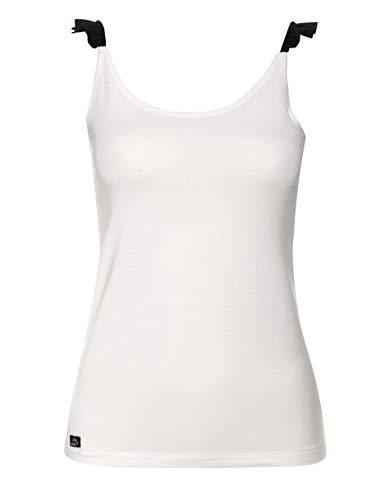 Jockey Damen Unterhemd Modal Basic-Shirt Unifarben, Größe: M, Farbe: Weiß -