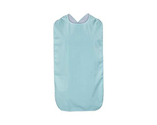 ActivePro ESS-Schürze Frottee/PU | Seniorenlätzchen zum Binden | Essschürze für Erwachsene | abwaschbares Lätzchen in | Kleiderschutz für Senioren (blau)