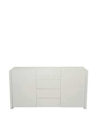 Phoenix Atlanta Sideboard Holz Weiss Hochglanz 45 x 150.1 x 78.8 cm