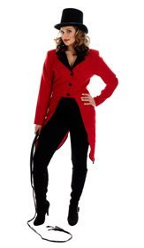 CIRCUS RING MASTER JACKET Adult Fancy Dress Costume All Sizes