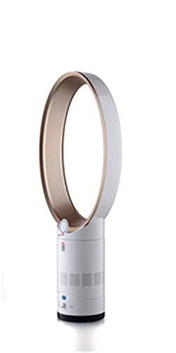 BEITAI 220V / 110V 35 Power Bladeless Fan 8000r / min Windkapazität 620L / S Mit Fernbedienung Timing-Funktion No Leaf Fan AIR Cooler (Farbe : 14 inch Gold Color) (Desktop Cpu-billig)