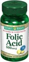 Folic Acid, 800 mcg, 250 Tablets from Nature's Bounty