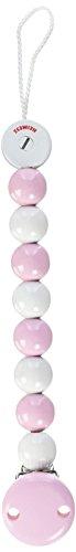 Heimess 732340, Catenella per ciuccio, colore: Rosa/Bianco