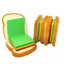 SuperStore Sandwich Shaped Notepad with Sticky Notes