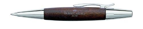 Faber Castell 148381 – Bolígrafo E-motion, con cuerpo en madera de peral, trazo B, color marrón oscuro
