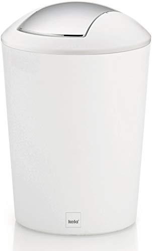 Kela Schwingdeckeleimer Marta Kunststoff, weiß, 29 cm 19,5 cm Ø 5 l