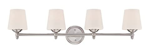 Designers Fountain 15006-4B-35 Darcy 4 Light Bath Bar, Brushed Nickel