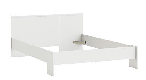 FMD Moebel GmbH Aarthus A1 Struttura Letto Piazza e Mezza, 145X190X74,9 H cm, Bianco, Nobilitato