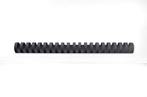 Ibico 4028182 - Caja de 50 canutillos de plástico (25 mm), color negro