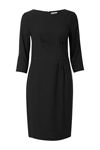 Promiss Damen Kleid Einfarbig Schwarz Dorothy Ls, Schwarz, 36