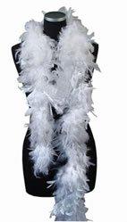PARTY DISCOUNT ® Federboa - weiß - ideal für Henne und Polterabende ()